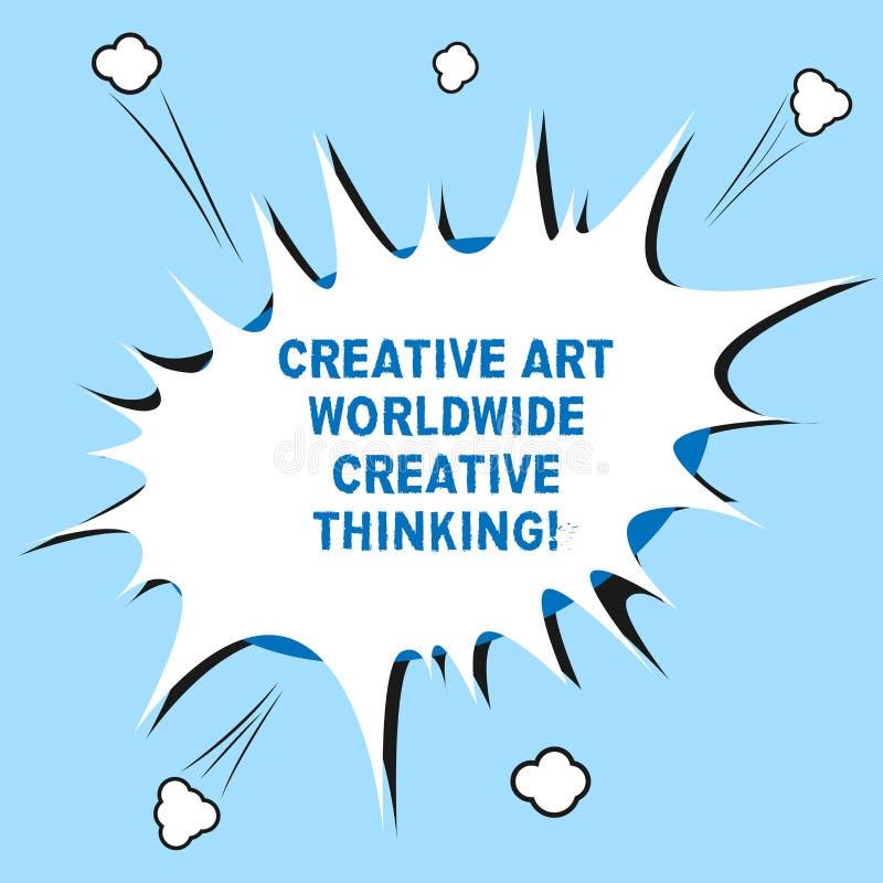 Texte Art Worldwide Creative Thinking créatif d'écriture de Word Concept d'affaires pour le blanc moderne global de conception de illustration de vecteur