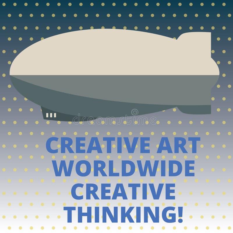 Texte Art Worldwide Creative Thinking créatif d'écriture Torpille moderne globale de conception de créativité de signification de illustration de vecteur