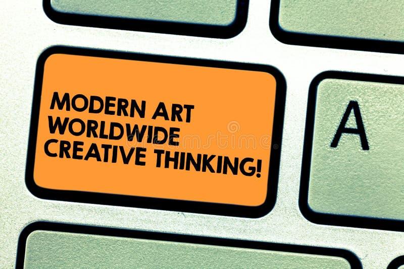Texte Art Worldwide Creative Thinking moderne d'écriture Concept signifiant l'intention artistique de clé de clavier d'expression illustration stock