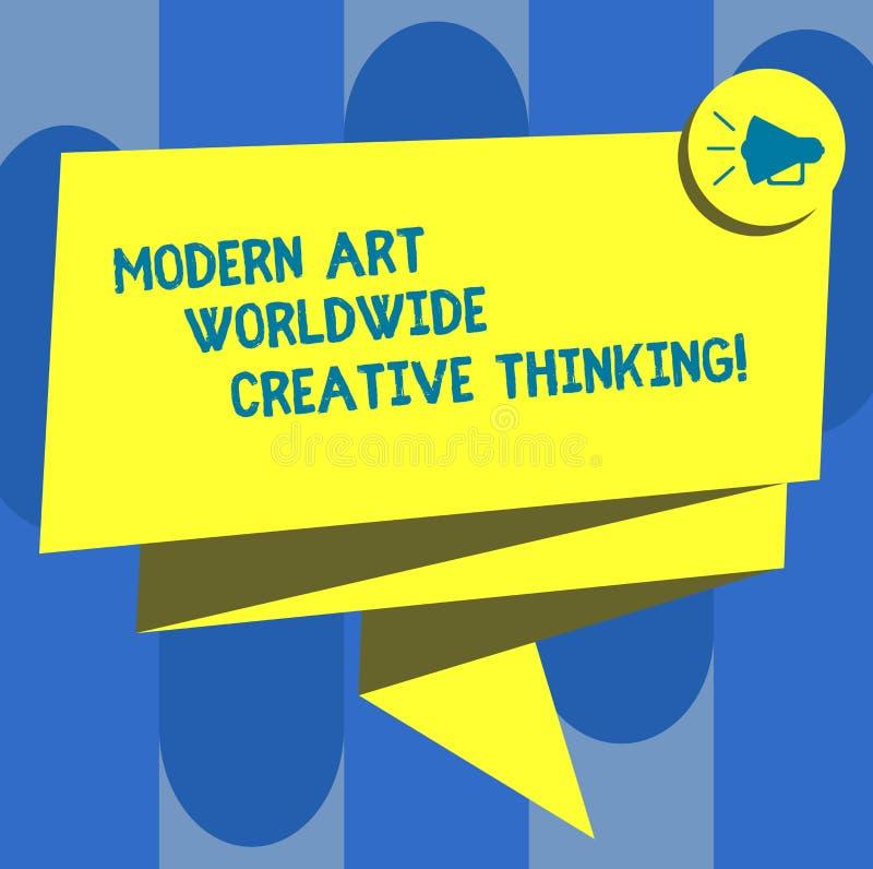 Texte Art Worldwide Creative Thinking moderne d'écriture Concept signifiant le ruban 3D Sash plié par expressions artistiques de  illustration de vecteur