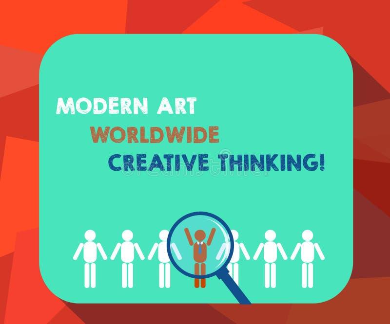 Texte Art Worldwide Creative Thinking moderne d'écriture de Word Concept d'affaires pour des expressions artistiques de créativit illustration de vecteur