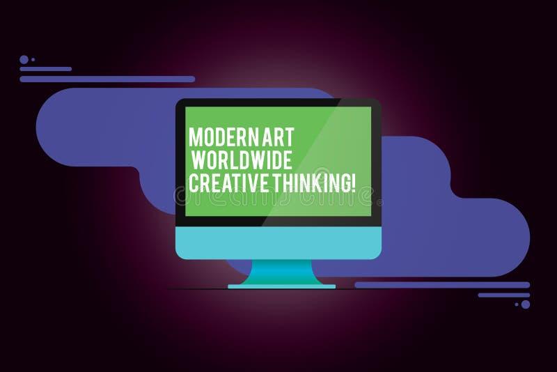 Texte Art Worldwide Creative Thinking moderne d'écriture de Word Concept d'affaires pour l'ordinateur monté par expressions artis illustration libre de droits