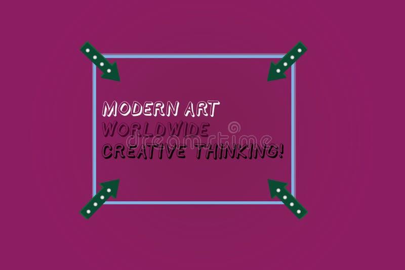 Texte Art Worldwide Creative Thinking moderne d'écriture de Word Concept d'affaires pour le contour carré d'expressions artistiqu illustration libre de droits