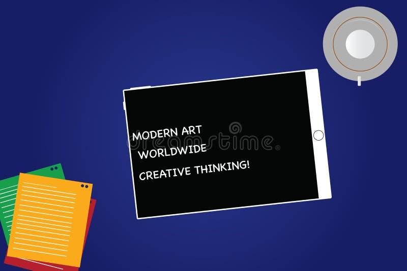 Texte Art Worldwide Creative Thinking moderne d'écriture Le concept signifiant des expressions artistiques de créativité marquent illustration stock