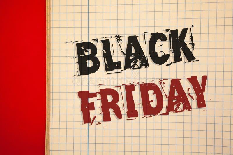 Texte Black Friday d'écriture de Word Le concept d'affaires en ventes spéciales après des achats de thanksgiving escompte le déga photo stock