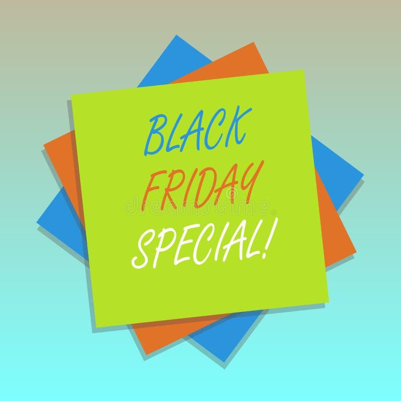 Texte Black Friday d'écriture spécial Concept signifiant le jour après multiple fou de saison d'achats de vente de thanksgiving illustration de vecteur