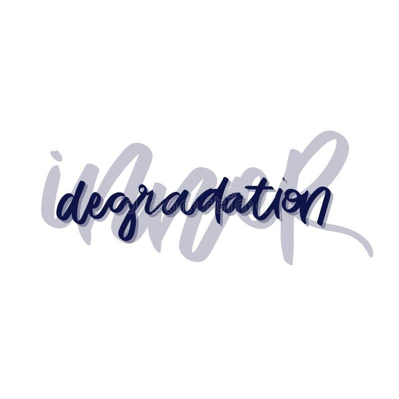 Texte - calligraphie moderne de brosse `` de dégradation intérieure `` illustration libre de droits