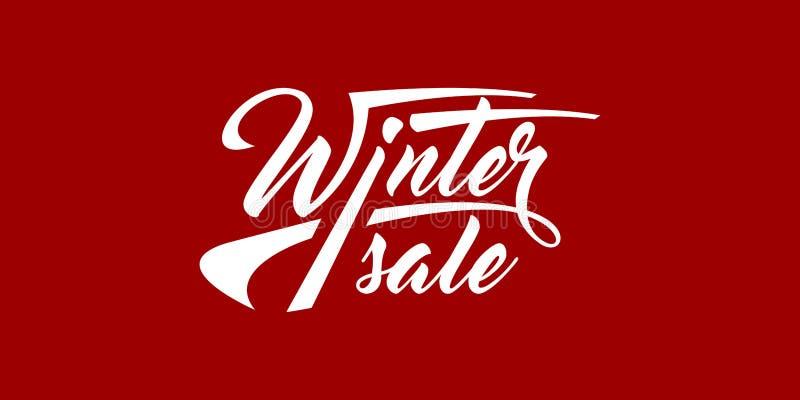 Texte calligraphique de vente d'hiver illustration stock