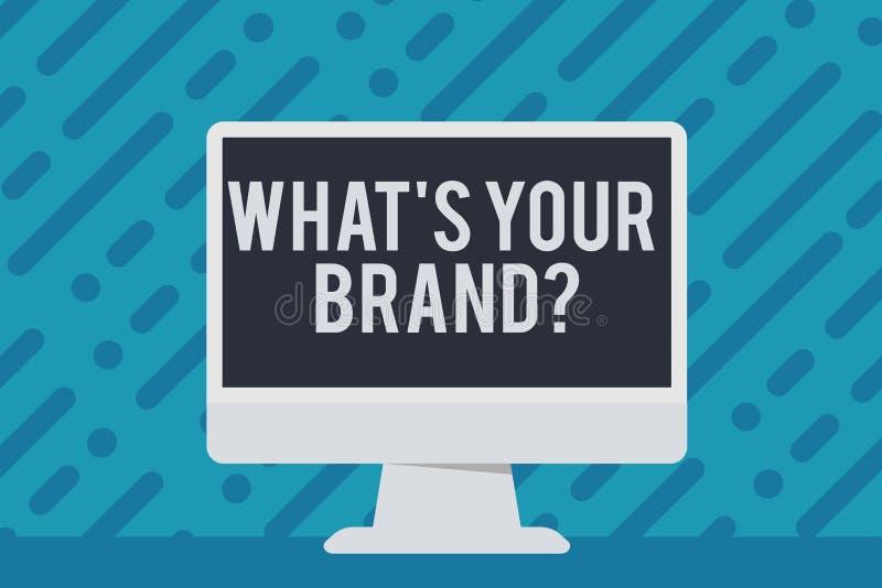 Texte d'écriture écrivant à quel S votre question de marque La signification de concept s'enquérant du logo de produit fait ou ce illustration de vecteur