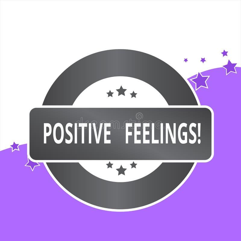 Texte d'écriture écrivant des sentiments positifs Concept signifiant tout sentiment o? il y a un manque de n?gativit? ou de trist illustration de vecteur
