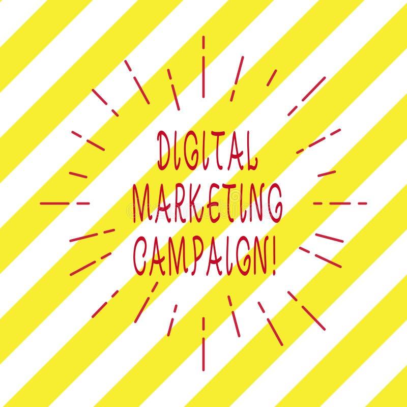 Texte d'écriture écrivant la campagne de marketing de Digital Concept signifiant l'effort marketing en ligne pour annoncer la mar illustration stock