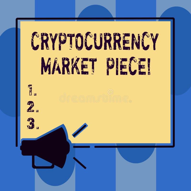 Texte d'écriture écrivant le morceau du marché de Cryptocurrency Capitaux de Digital de signification de concept qui peuvent être illustration stock