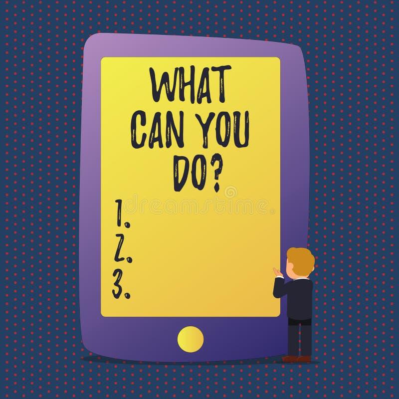 Texte d'écriture ce qui peut vous Doquestion Concept signifiant le but de détermination de service en valeur la contemplation illustration de vecteur