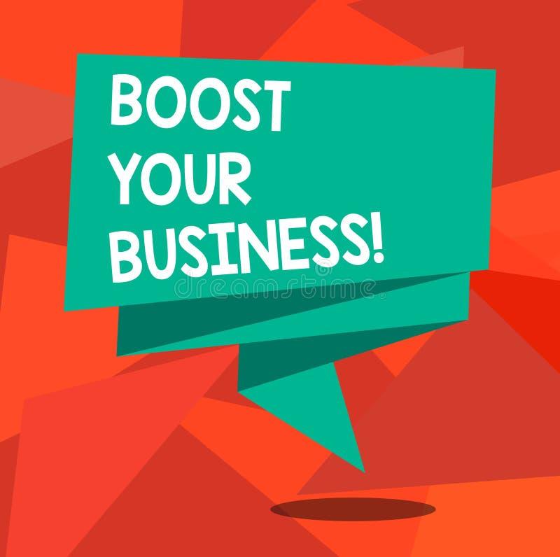 Texte d'écriture de Word amplifier vos affaires Le concept d'affaires pour améliorer une certaine mesure de croissance de succès  illustration stock