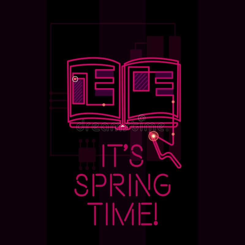 Texte d'écriture de Word ce s est printemps Concept d'affaires pour la saison après l'hiver Bloosoming de la transformation de fl illustration stock