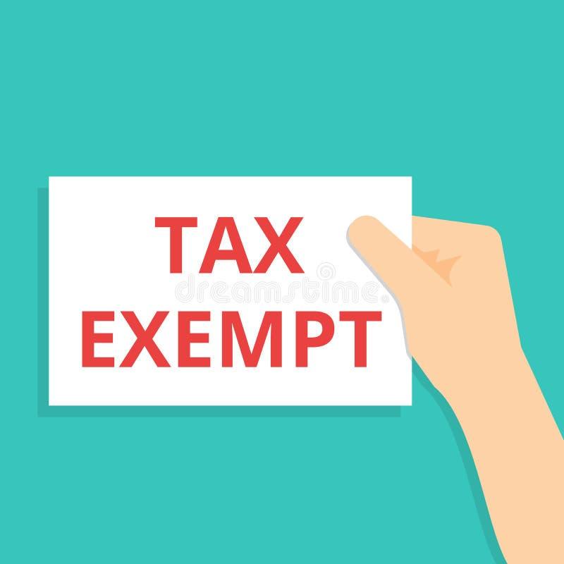 Texte d'écriture de Word exempt d'impôts illustration libre de droits