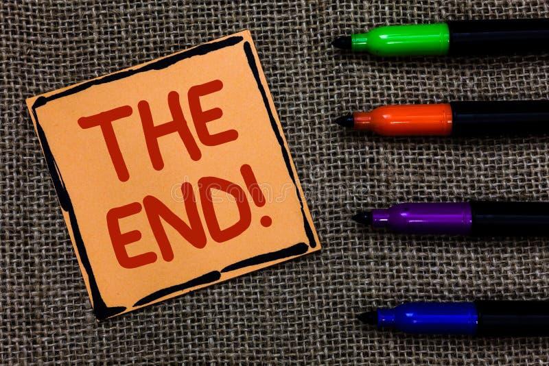 Texte d'écriture de Word l'appel de motivation de fin Concept d'affaires pour la conclusion de l'heure pour quelque chose fin d'a photo libre de droits
