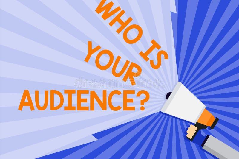 Texte d'écriture de Word qui est votre question d'assistance Concept d'affaires pour qui est observant ou écoutant lui participat illustration stock