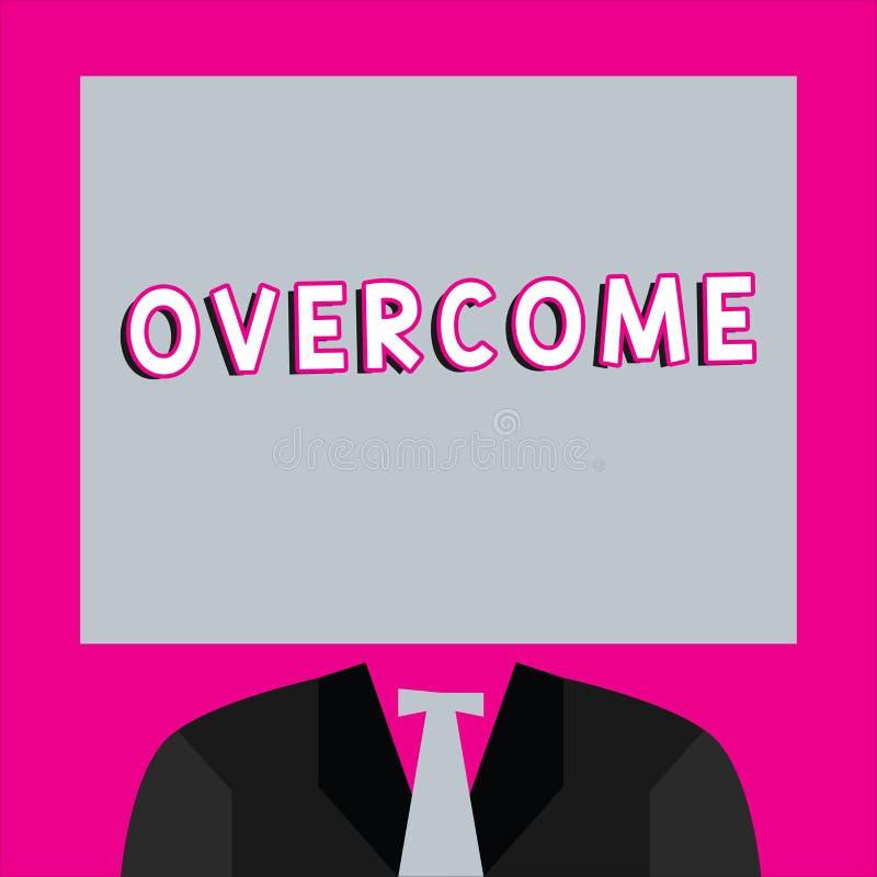 Texte d'écriture de Word surmonté Le concept d'affaires pour réussissent en faisant face à l'adversaire de défaite de problème ou illustration stock