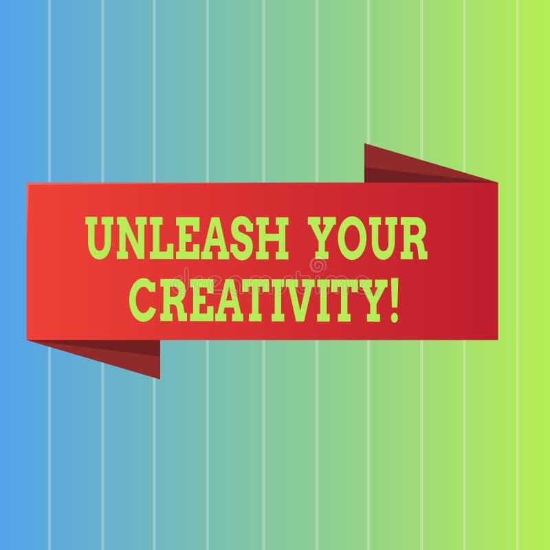 Texte d'écriture lâcher votre créativité E illustration libre de droits