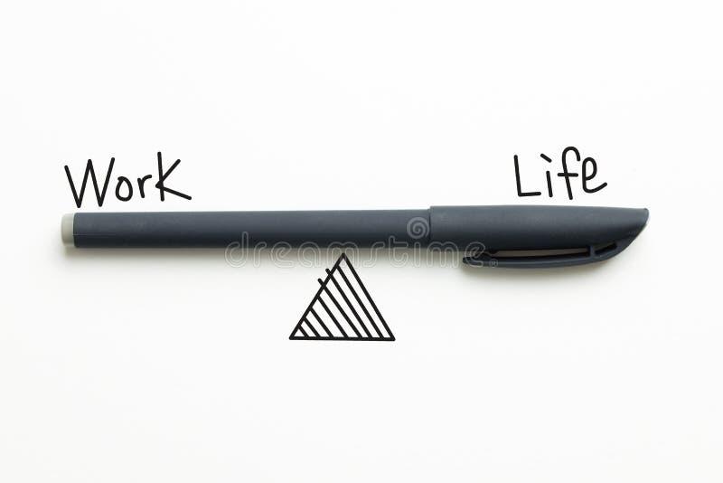 Texte d'équilibre de la vie de travail image stock