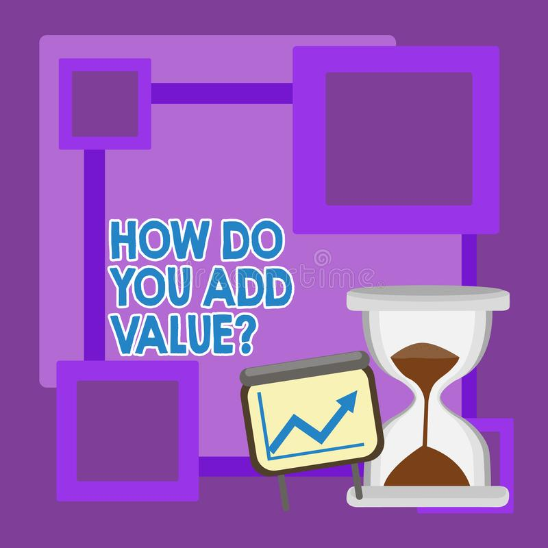 Texte d'?criture comment faites vous ajoutez la question de valeur La signification de concept am?liorent le processus de fabrica illustration de vecteur