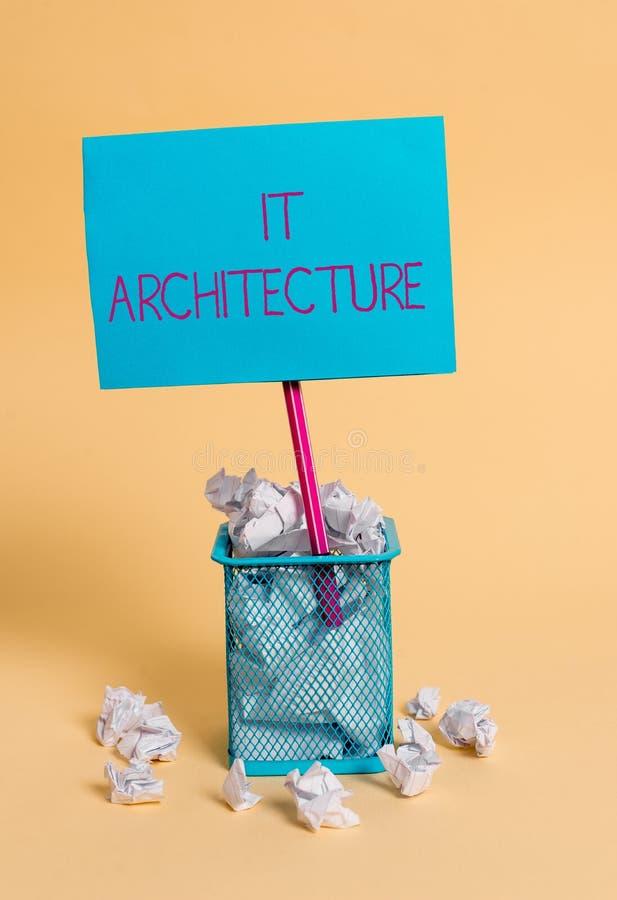 Texte d'?criture de Word il architecture Le concept d'affaires pour l'architecture est appliqu? au processus de la structure glob images libres de droits