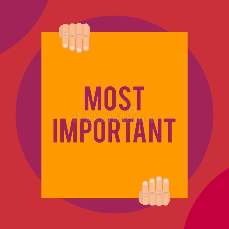 Texte d'?criture de Word le plus important Concept d'affaires pour la quantité ou analogues deux significatifs du plus grand ou l illustration libre de droits