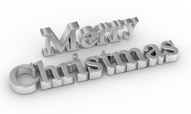 texte 3d de Joyeux Noël illustration de vecteur