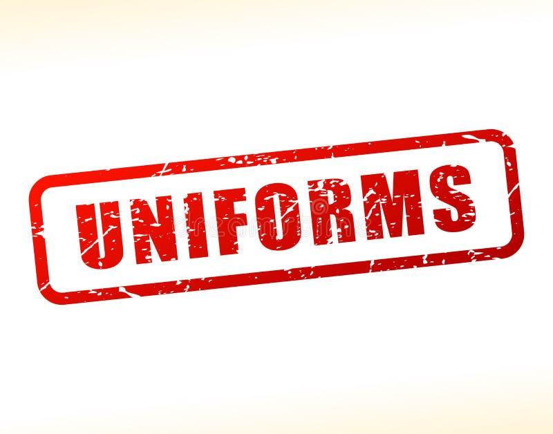 Texte d'uniformes protégé illustration libre de droits