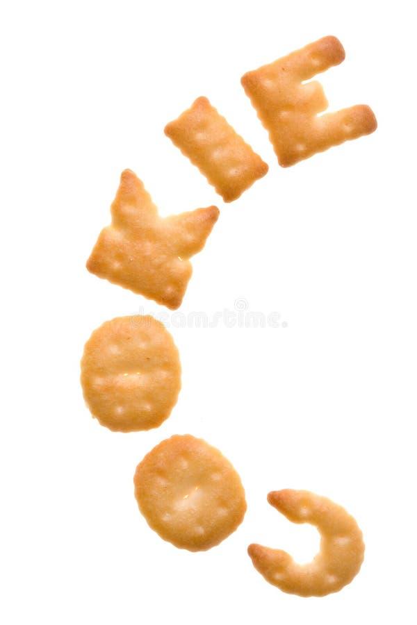texte de biscuits de biscuit images libres de droits