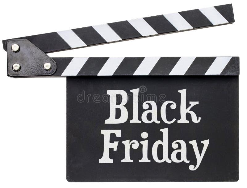 Texte de Black Friday sur le bardeau photo stock