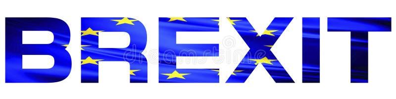Texte de Brexit avec le drapeau d'Union européenne image stock