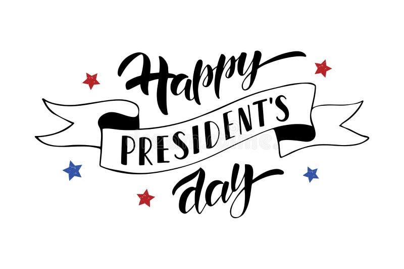 Texte de célébration de Day du Président heureux illustration libre de droits
