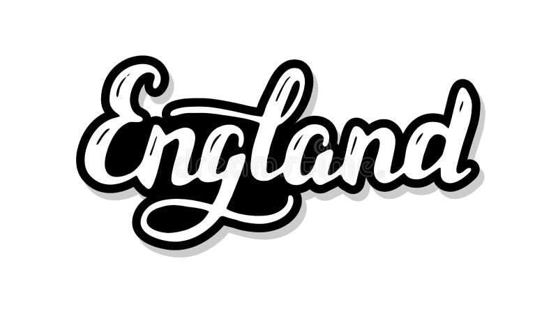Texte de calibre de calligraphie de l'Angleterre pour votre concept d'illustration de conception Mots de inscription manuscrits d illustration libre de droits