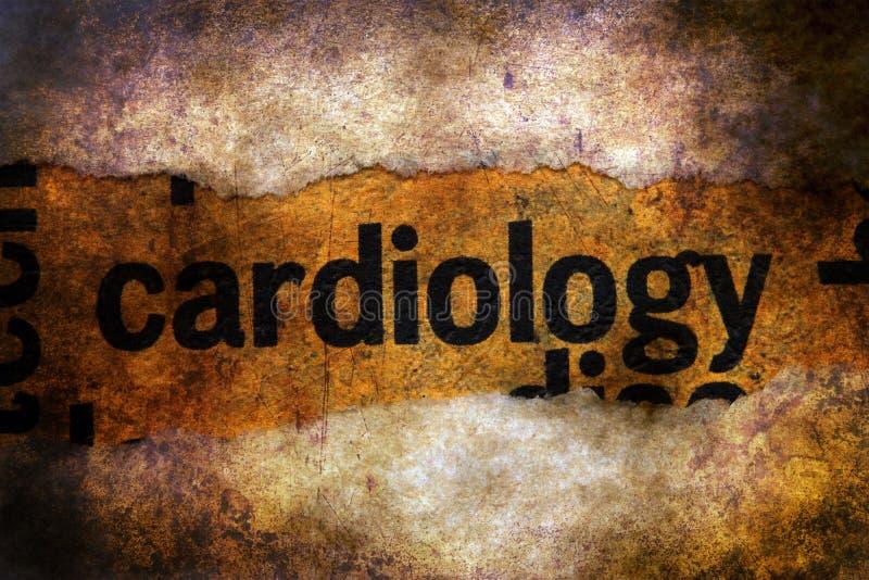 Texte de cardiologie sur le fond grunge photographie stock libre de droits