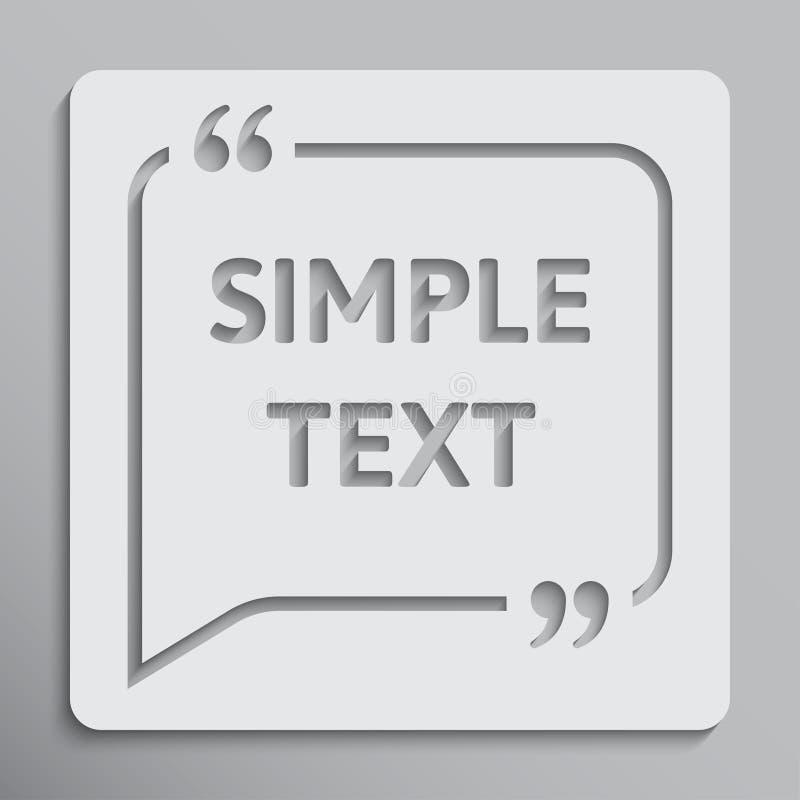 Texte de citation de bulle de la parole de vecteur bride guillemet illustration de vecteur
