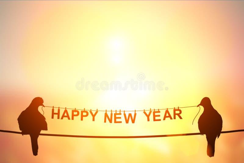 Texte de ` de bonne année de ` sur le fond en pastel photographie stock