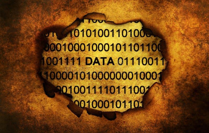 Texte de données sur le concept grunge de trou de papier photos stock