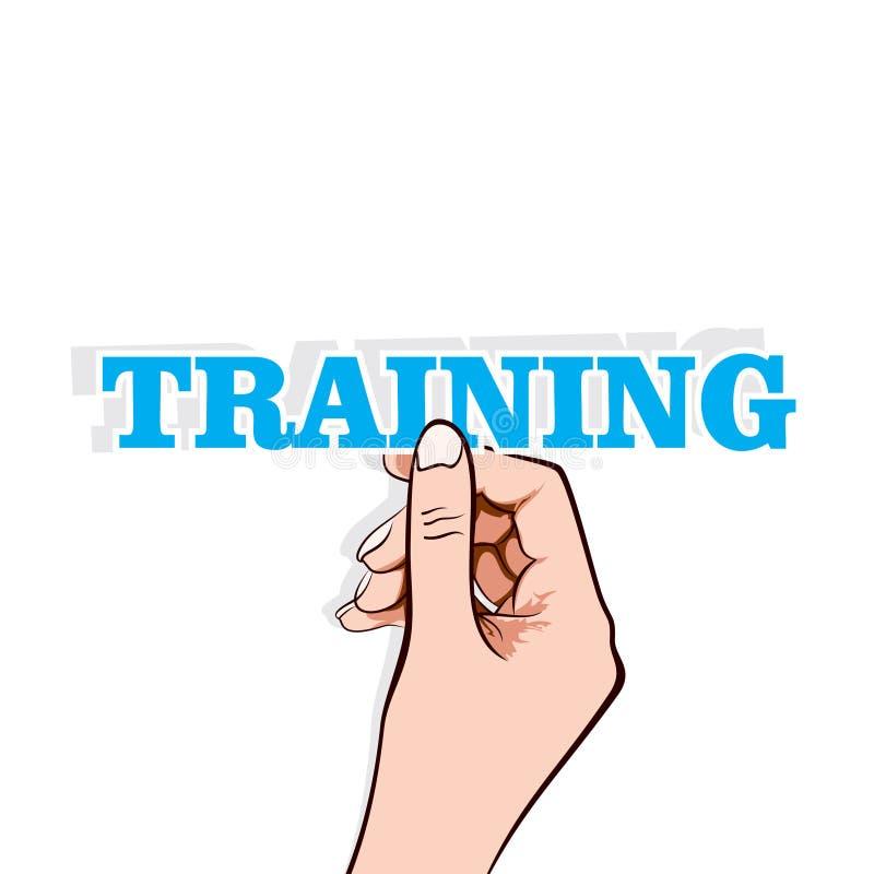 Texte de formation avec la main illustration de vecteur