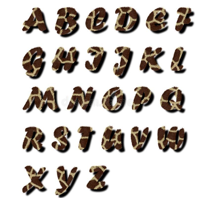 texte de fourrure d'alphabet illustration libre de droits