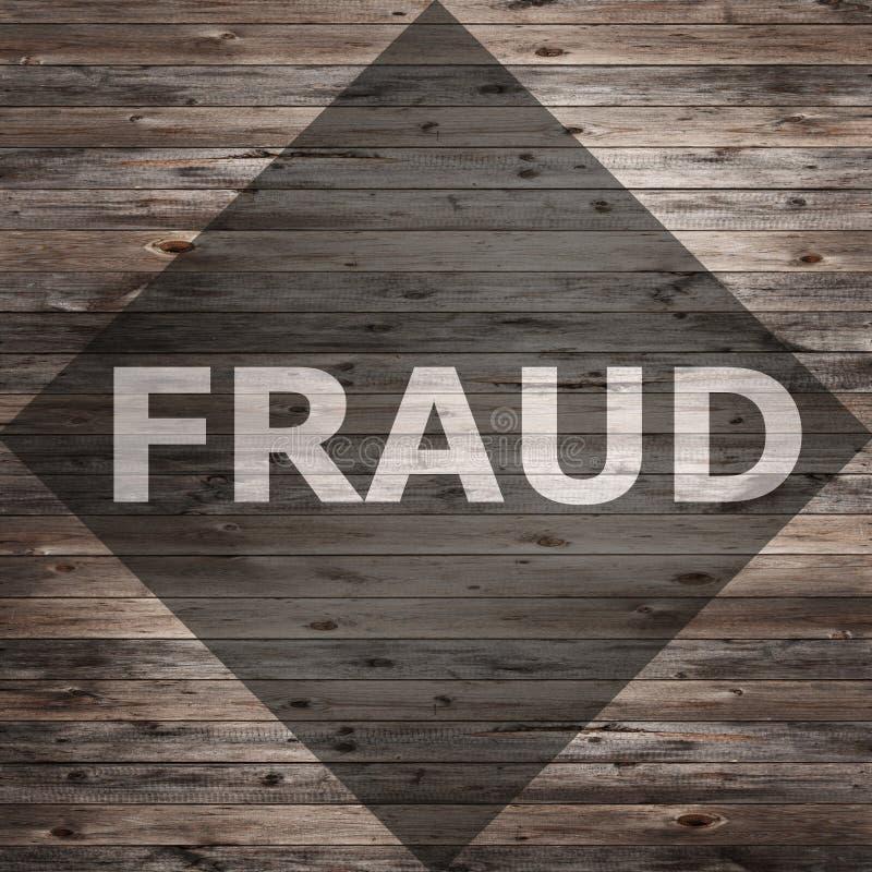 Texte de fraude sur le bois chevronné photographie stock libre de droits