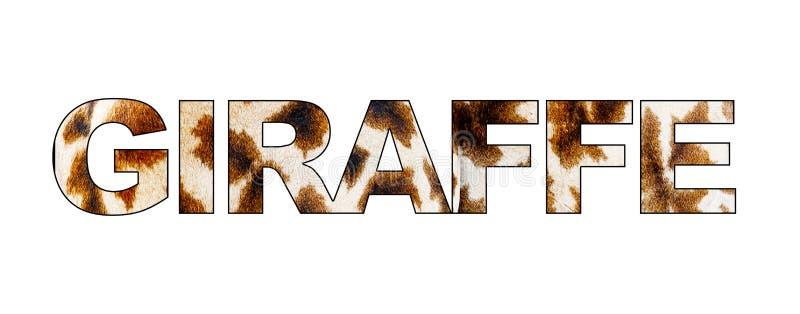 Texte de girafe avec le modèle photo libre de droits