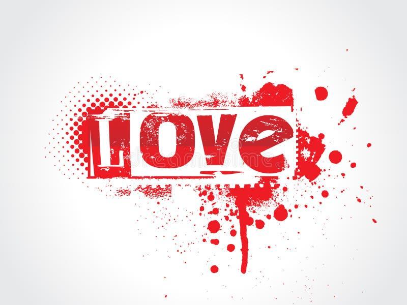 Texte de grunge d'amour illustration de vecteur