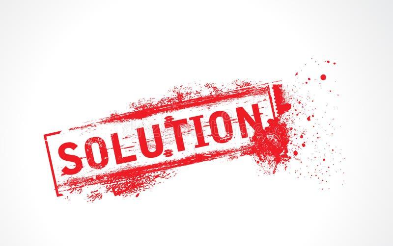 Texte de grunge de solution illustration stock