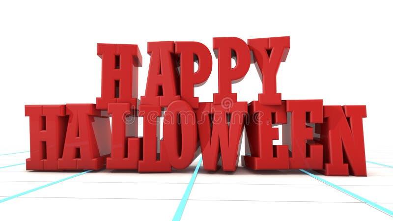 Texte de Halloween 3d illustration de vecteur