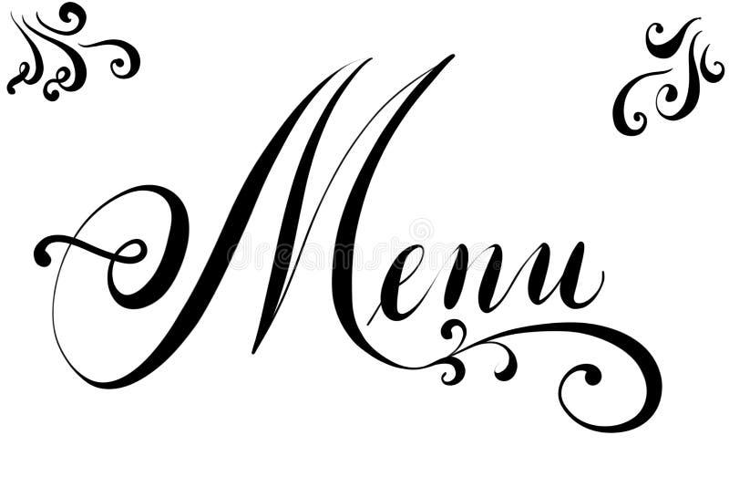 Texte de Handlettered pour la carte de menu dans les restaurants illustration libre de droits