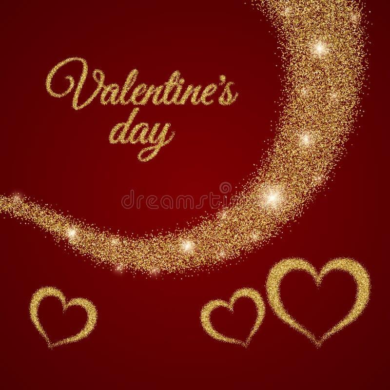 Texte de jour de Valentine s illustration de vecteur