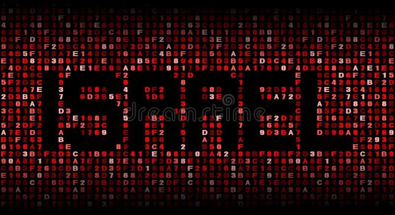 Texte de l'Israël sur l'illustration de code de sortilège illustration de vecteur