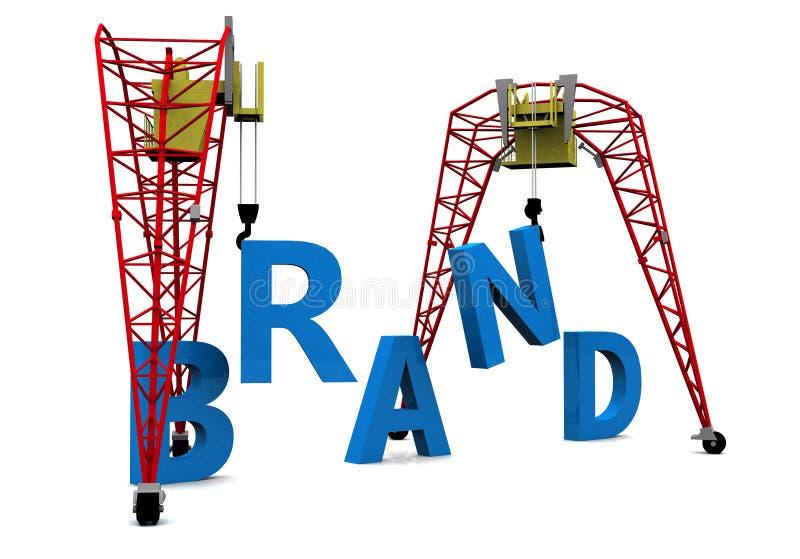 Texte de la marque 3D de construction illustration stock